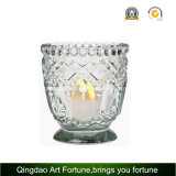 Candle di vetro Holder con Dotted Decor per Tealight Candle