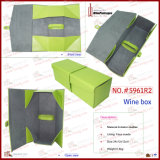 Primavera Green Foldable Single Bottle Wholesale Wine Case (5961R2)