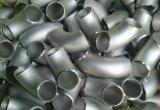 Aço inoxidável padrão de ASME B16.9 cotovelo de 90 graus