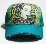 Grinding Washed Distressed Printing Bordado Sport Baseball Cap (TRB032)