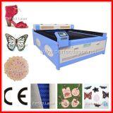 Кожаный гравировальный станок лазера ткани/тканья/одежды каменный