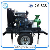 Montagem do reboque refrigerador de Água de Drenagem do motor diesel da bomba de água