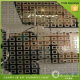 Espejo de color de la placa de acero inoxidable decorativa grabada con el mejor precio