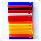 Feuille acrylique couleur opaque, rouge, bleu, blanc et jaune