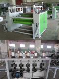 Ligne de collage de papier semi-automatique de travail du bois