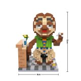 Série animale Zoo Flash Blocks Model Toy for Children