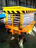 Plate-forme de travail à ciseaux manuelle à ciseaux mobiles à bascule hydraulique en gros