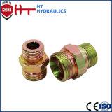 Bspの男性油圧ホースの使用の油圧適切なアダプターのための60のDegのホースのアダプター