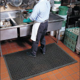 Tapete de borracha de cozinha de banheiro de drenagem antideslizante, tapete de borracha anti-fadiga