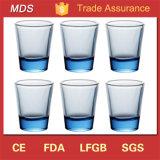 Glas van de Basis van Hawaï van de hoogste Kwaliteit het Dikke Lichtblauwe Ontsproten voor Giften
