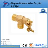 Alta calidad ISO228 conectado rápido de la válvula de bola de latón de 1/2 pulgada de agua