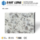 Bancadas artificiais da pedra de quartzo da cor do granito para partes superiores da vaidade com superfície contínua