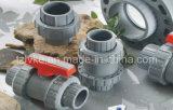 Doppia valvola a sfera del sindacato del PVC per irrigazione con ISO9001 (BSPT/NPT)