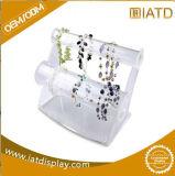 Sauter vers le haut l'étalage cosmétique de bijou de montre d'exposition de bijou de bijou de lunetterie de Pegboard de mémoire de boucle stand portatif au détail en plastique acrylique de Pegboard de contre-