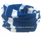 Le produit d'usine a personnalisé l'écharpe de couleur chamois multifonctionnelle de tube élastique de collet de Microfiber estampée par modèle