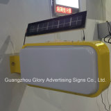 Oudoor Street Publicidade Display LED Solar Light Box