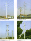 110kv HDG Transmission Line Steel Pole