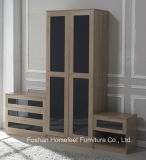 New Design High Gloss Bedroom Wardrobe Trio Set