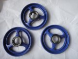 弁のための円形の穴そして5スポークが付いている手車輪
