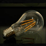 Bulbo del filamento de la lámpara B22 E27 A60 LED de la luz de bulbo del filamento LED 4W 6W 8W