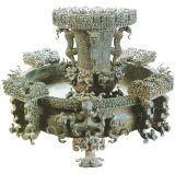 Zun en bronze antique Pan