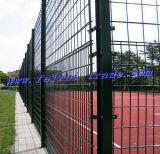 Revêtement en poudre double clôture en treillis métallique pour terrain de sport