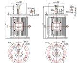 300W-10kw de baja velocidad 50 rpm generador de viento vertical / generador de imán permanente