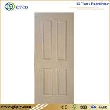 Les graines en bois de 6 panneaux dans la peau amorcée blanche de porte pour la porte/peau amorcée blanche de porte de HDF