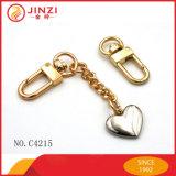 Populares de aleación de zinc Llavero de metal pequeño gancho