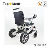 Sedia a rotelle elettrica leggera pieghevole medica del dispositivo di presa di forza del nuovo prodotto del certificato dello SGS del Ce