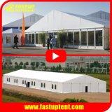 Big Grand Luxe profilé en aluminium clair Span chapiteau tente pour partie de l'événement de mariage avec panneau ABS mur de verre