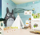 Los niños para pintar el papel de pared con setas de la camada, PVC, papel, tela, el material