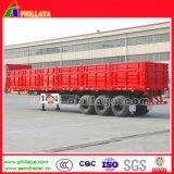 半20-40feet容器の平面貨物輸送のサイドウォールの通用口のトレーラー