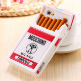 3D Cigarette Phone Case Silicon Cellphone Cover voor iPhone