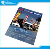 O design do Catálogo de publicidade e a empresa de impressão