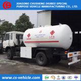 가스 튼튼한 질을%s 가진 자른 꼬리 유조 트럭을 요리하는 나이지리아 시장 8mt 8tons LPG 프로판