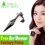 De in het groot Sleutelring van Korea Metal/PVC/Leather van het Ontwerp als Gepersonaliseerde Gift