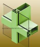 Profils en aluminium de mur de Curtainer
