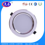Downlight LED empotrado de aluminio 100% cuerpo de la lámpara 3W 7W Downlight 9W