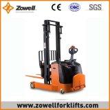 Apilador eléctrico del alcance del Ce caliente de la venta de Zowell con la capacidad de carga de 1.5 toneladas, altura de elevación del 1.6m