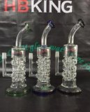 Spiral Perc Recycler Glass Pipes Turbine Domed Double Tornado Glass Smoking Pipe