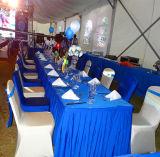 結婚披露宴のイベントの玄関ひさしに使用する大きいテント