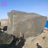 Блок высшего качества камня из черного гранита Шаньси.