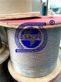 Vinil da corda de fio do aço inoxidável (PVC) e nylon revestido