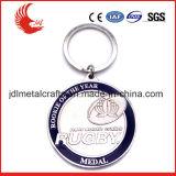 Tipo moneda de encargo Keychains del metal de la aleación del metal de la venta al por mayor