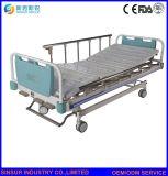 China Muebles médicos Manivela manual 3-función Paciente ajustable cama de hospital