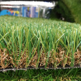 40mmの高さ18900の密度Leov105の品質のオリーブ色の装飾のための人工的な草の芝生