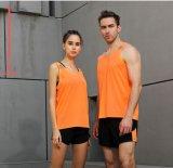 Van de Katoenen van de Douane van het Mouwloos onderhemd van het Vest van de Club van de geschiktheid de In te ademen Hemden Gymnastiek van Spandex Mens
