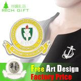 Emblema feito sob encomenda da medalha do Pin do Lapel do logotipo da venda direta da fábrica