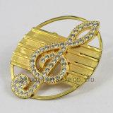 Os homens de moda da caixa de travamento do cinto de ouro Rhinestone Carta Botão de hardware